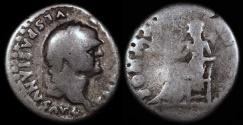 Ancient Coins - Vespasian Denarius - PON MAX TR P COS VI - Rome Mint
