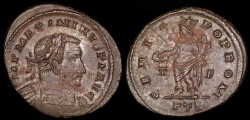 Ancient Coins - Maximinus II Follis - GENIO POP ROM - Trier Mint