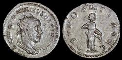 Ancient Coins - Trajan Decius Antoninianus - ABVNDANTIA AVG - Rome Mint