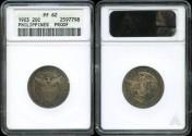 World Coins - 1903 Philippines 20 Centavos PR62