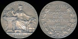 World Coins - 1822 France – Ministry of Trade and Industry