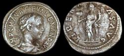Ancient Coins - Severus Alexander Denarius - LIBERALITAS AVG - Antioch Mint