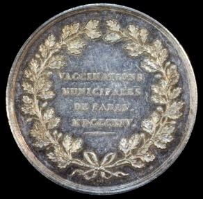 World Coins - 1814 France - Jeton - Paris - Municipal Smallpox Vaccinations by Francois Depaulis