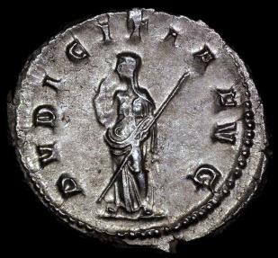 Ancient Coins - Herennia Estrucilla Ar Antoninianus - PVDICITIA AVG - Rome Mint
