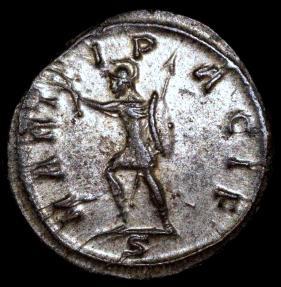 Ancient Coins - Tacitus Antoninianus - MARTI PACIF - Ticinum Mint