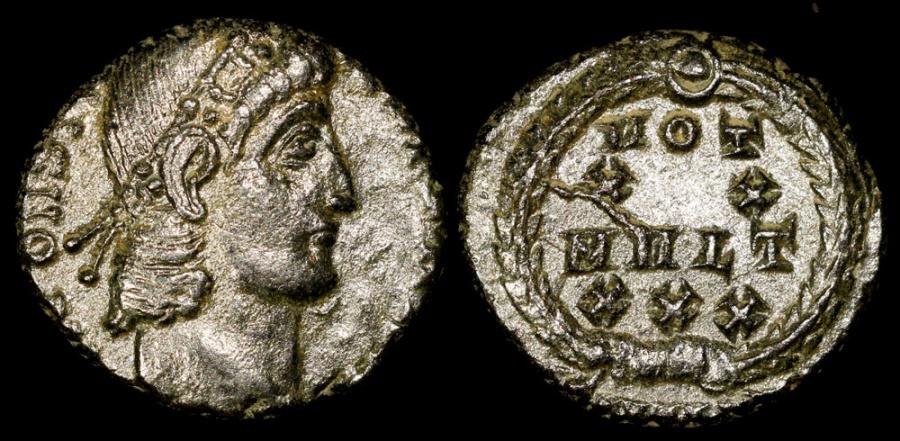 Ancient Coins - Constantius II Ae4 - VOT XX MVLT XXX - Constantinople Mint