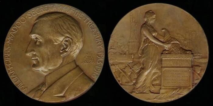 US Coins - 1919 US – Secretary of the Treasury William Gibbs