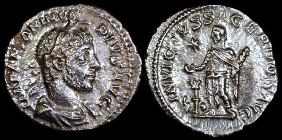 Ancient Coins - Elagabalus Denarius - INVICTVS SACERDOS AVG - Rome Mint