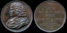 World Coins - 1826 France – Bernard de Jussieu (French botanist who founded a method of plant classification) by Alexis Joseph Depaulis
