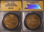 Us Coins - 1907 Jamestown Tercentennial Exposition Medal, Norfolk County Virginia (So-Called Dollar) ANACS MS62