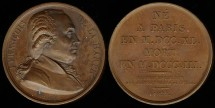 World Coins - 1822 France -  Jean Francois De La Harpe by Louis-Michel Petit
