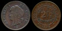 World Coins - 1898 Chile 2-1/2 Centavos XF