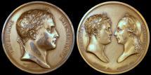 World Coins - 1805 France - Napoleon - Battle of Austerlitz by Jean-Bertrand Andrieu and Dominique-Vivant Denon