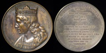 World Coins - 1840 France - Childebert II, Merovingian king of Austrasia and Burgundy (575-595) by Armand-Auguste Caqué #17