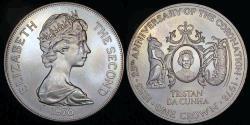 "World Coins - 1978 PM Tristan Da Cuhna 1 Crown - Elizabeth II ""25th Anniversary of Coronation Commemorative Silver"" Tiny Mintage"