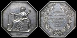 World Coins - 1849  France - Paris Court of First Instance by Francois Joseph Alard Gamot