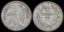 World Coins - 1941 Chile 20 Centavos XF