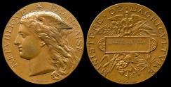 World Coins - 1894 France - Lille Regional Agricultural Contest Award Medal by François-Joseph-Hubert Ponscarmé