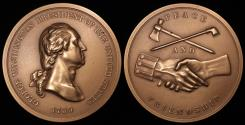 """Us Coins - 1789 George Washington """"Indian Peace Medal"""" - First President of the United States (April 30, 1789 to March 3, 1797) - Original US Mint Medal by Pierre Duvivier and John Reich"""