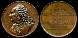 World Coins - 1817  France - Alexis Piron French epigrammatist and dramatist by Masson for the Galerie Metallique des Grands Hommes Francais
