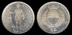 World Coins - 1934 B Fribourg (Switzerland) 5 Franc Proof