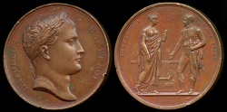 World Coins - 1808  France - Visit of Napoleon to the city of Toulouse the 25th of July 1808 by Jean-Bertrand Andrieu