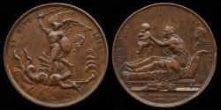 """World Coins - 1820 France - """"NAISSANCE DU DUC DE BORDEAUX"""" (Birth of the Duke of Bordeaux"""" by Paul Joseph Raymond Gayrard"""