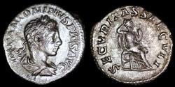 Ancient Coins - Elagabalus  Ae Denarius - SECVRITAS SAECVLI - Rome Mint