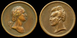Us Coins - 1833 Andrew Jackson and George Washington Mint Medal