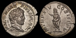 Ancient Coins - Caracalla Denarius - P M TR P XV COS III P P - Rome Mint