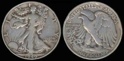Us Coins - 1940 S Walking Liberty Half Dollar VG
