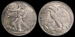 Us Coins - 1945 P Walking Liberty Half Dollar UNC
