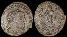 Ancient Coins - Licinius I Follis - IOVI CONSERVATORI AVGG NN - Thesalonica Mint