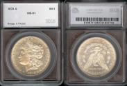 Us Coins - 1878s Morgan Dollar SEGS MS61