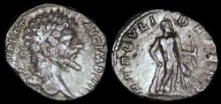 Ancient Coins - Septimius Severus Denarius - HERCVLI DEFENS - Rome Mint