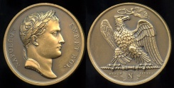 World Coins - 1807  France - Napoleon - Victories of 1807 by Jean-Bertrand Andrieu and Louis Jaley