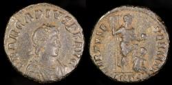 Ancient Coins - Arcadius Ae3 - VIRTVS EXERCITI - Antioch Mint