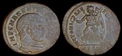 Ancient Coins - Maxentius Ae Follis - VICTORIA AETERNA AVG N - Ostia Mint