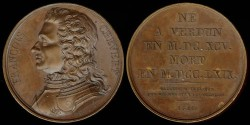 World Coins - 1821 France - Francois Chevert by Armand-Auguste Caque