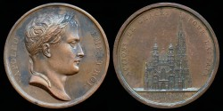 World Coins - 1805 France - Napoleon - Te Deum Sung in St. Stephen's Cathedral by Jean-Bertrand Andrieu and Dominique-Vivant Denon