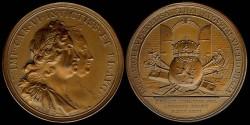 World Coins - 1723 France – Coronation of Charles VI & Elizabeth in Bohemian