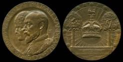 World Coins - 1902 Great Britain - King Edward VII & Queen Alexandra Coronation Medal