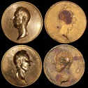 World Coins - 1806 Great Britain - Death of William Pitt the Younger by Thomas Webb – Original Hand Poured Negative and Positive Die Proofs of the Obverse.