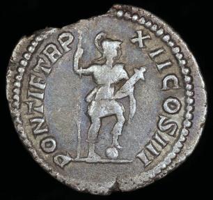 Ancient Coins - Caracalla Denarius - PONTIF TR P XII COS III - Rome Mint