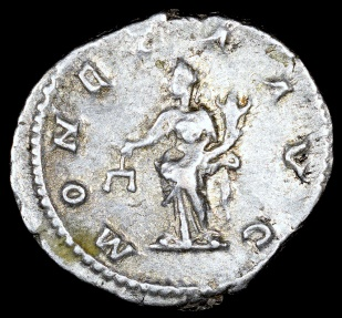 Ancient Coins - Caracalla Denarius - MONETA AVG - Rome Mint
