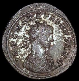 Ancient Coins - Probus Antoninianus - ADVENTVS PROBI AVG - Lugdunum Mint