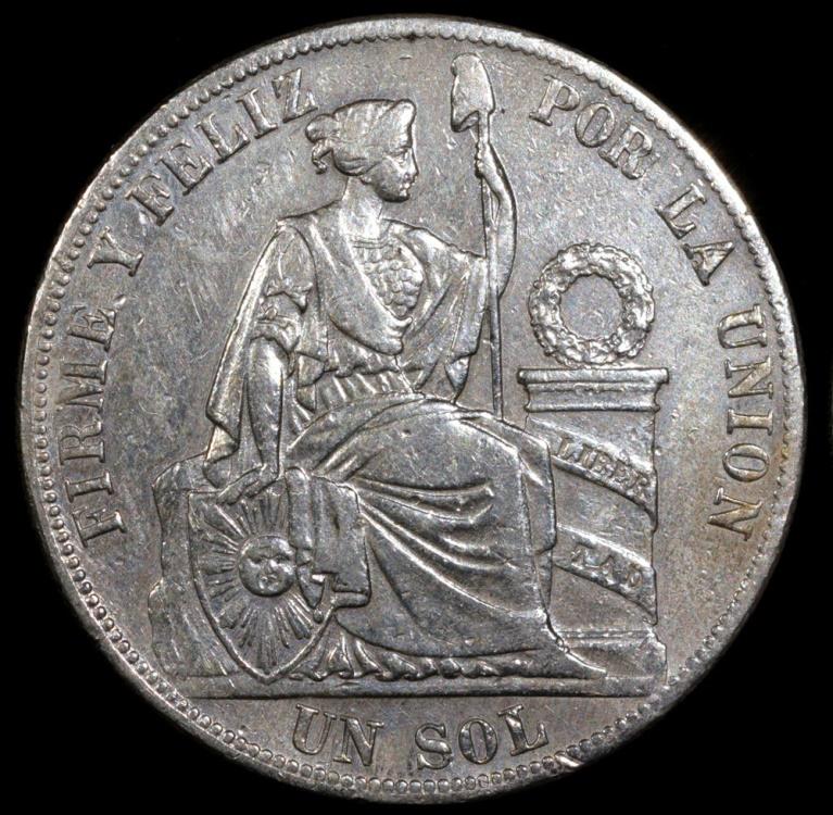 1885 Td Peru 1 Sol Xf
