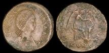 Ancient Coins - Aelia Flaccilla Ae2 - SALVS REIPVBLICAE - Constantinople Mint