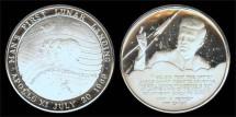 Us Coins - 1969 John F. Kennedy and the Apollo XI Lunar Landing (Canada) Silver