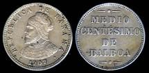 World Coins - 1907 Panama 1/2 Centesimo BU